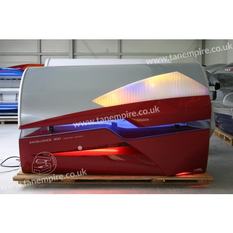 Sunbed Ergoline Excellence 800 Turbo Power Fiery Red
