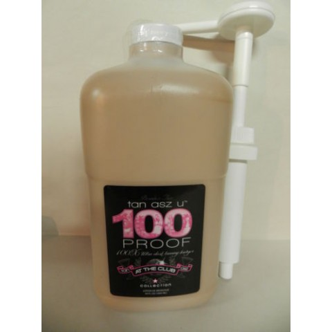 Tan Asz U 100 Proof 1892ml Tanning lotion half gallon bottle with pump