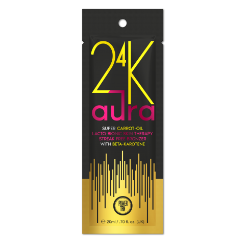 Power Tan - 24K Aura Super Carrot Oil Accelerator 20ml - New for 2020