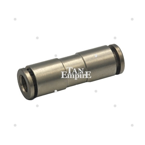 Water hose metal connector straight 6mm