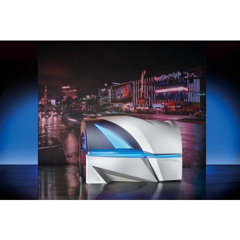 Luxura Vegaz 8200 with coloured UV lamps