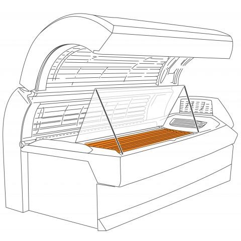 Underbase acrylic sheet for Ergoline Excellence