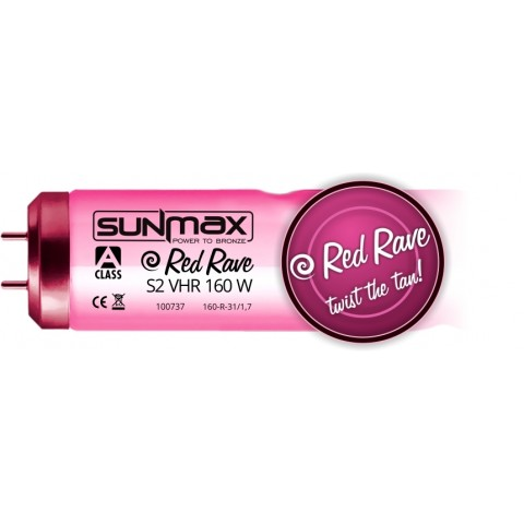 Sunmax A-class Red Rave S2 VHR 160W 0.3W/m² Tanning lamp
