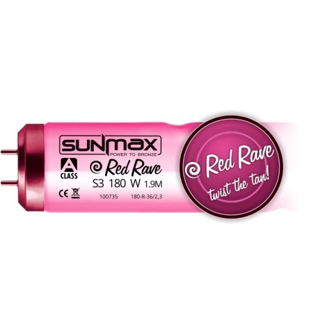 Sunmax A-class Red Rave S3 180-200W 1.9m 0.3W/m² Tanning lamp