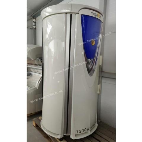Vertical solarium megaSun T200 White-pearl