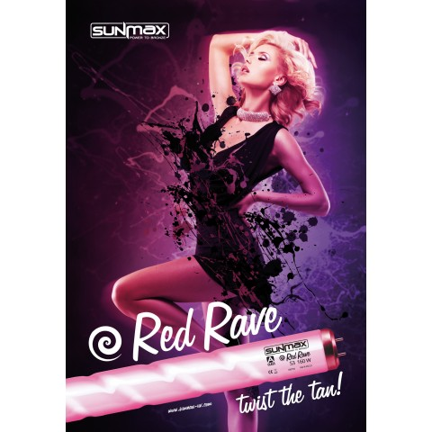 Sunmax A-class Red Rave S3 180-200W 2m 0.3W/m² Tanning lamp