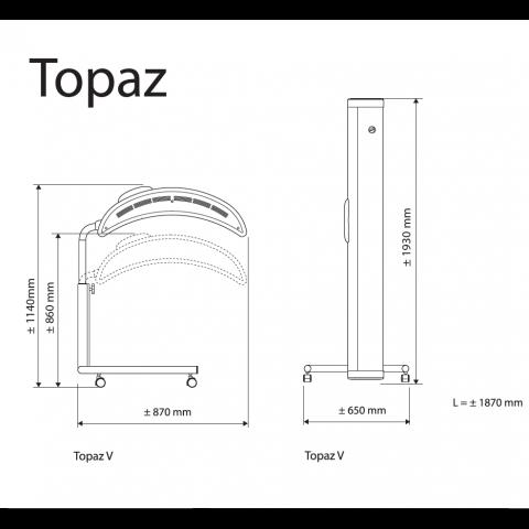 Vertical sunbed Hapro Topaz 12V