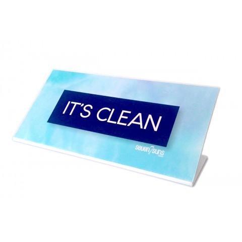 7suns IT'S CLEAN sign