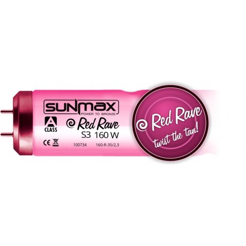Sunmax A-class Red Rave S3 160W 0.3W/m² Tanning lamp