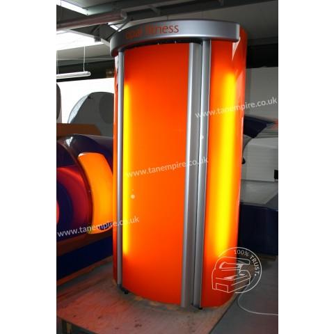 Vertical solarium Tanzi Opal Fitness Orange