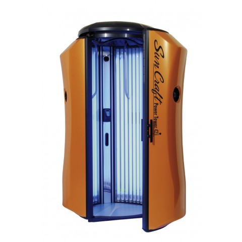 Vertical solarium New Technology Sun Craft Power Tower 42i Orange
