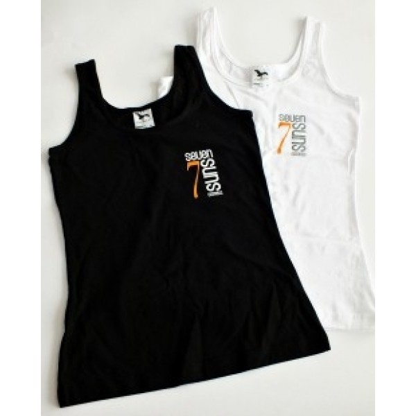 7suns logo Top in White and Black