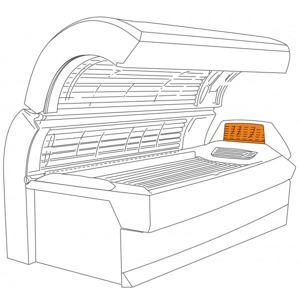 Shoulder tanner acrylic sheet for Ergoline Excellence