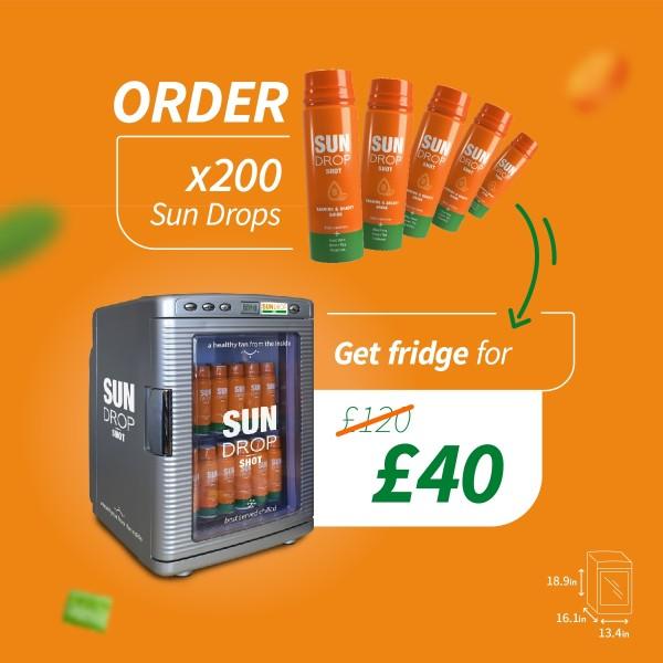 Special deal: x200 Sun Drop + fridge